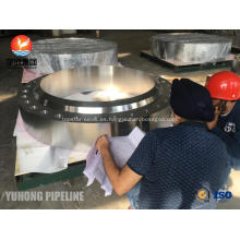 ASME SA182 F321H Flange FVC Forging, RTJ HB (tope de tuerca) para la industria química