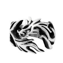 Мода Ювелирные Изделия Из Нержавеющей Старинные Кольцо Дракона Открыть