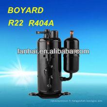Compresseur réfrigérateur à réfrigération rotatif R22 à haute efficacité pour unité de condensation vente chaude