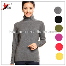 women cashmere knitting roll neck sweater