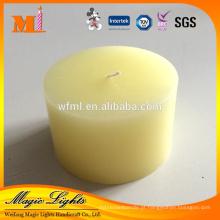 Uso amarelo do uso profissional do agregado familiar de China da decoração da casa Scented vela amarela da coluna