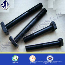 Grade 10.9 square head bolts oxide finished black finished square head bolts Half thread square head bolts