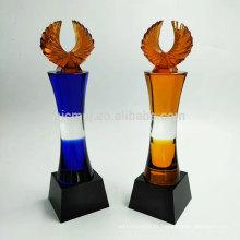 Mais recente design atraente preço personalizado troféu troféu de cristal