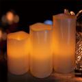Velas LED Set con colección de lujo de diseño marfil