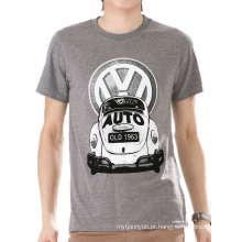 Impressão Da Tela Do Logotipo Do Carro personalizado Atacado Top Quality 100% Algodão Camisa Dos Homens T