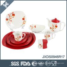 Porcelana 2015 da porcelana de Alemanha, grupo de jantar 46pcs quadrado