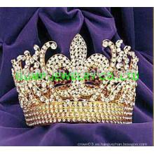 Corona de la tiara redonda de la flor de lis