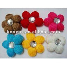 Fabricación de flores de lana de ganchillo