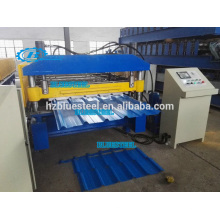 Metal Roof Sheet Corrugated And IBR Roll Forming Machine , Panel Making Machine