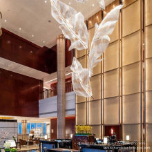 Maison de conception de dessin gratuit Lustre en cristal d'hôtel LED