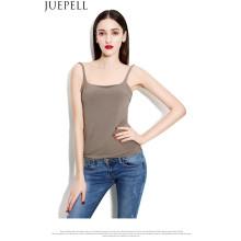 Verano nuevas mujeres de las ligas chaleco atractivo de fondo delgado párrafo corto respirable camisa de cáñamo chaleco salvaje superior