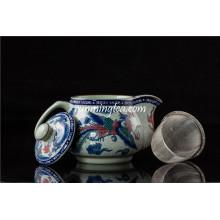 Pot de thé céramique traditionnel Dragon & Phenix 500ml
