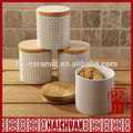 Customized porcelain jar with lid