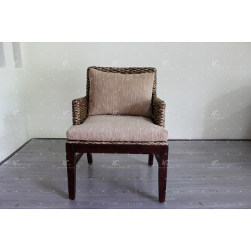 Exclusive Interior Design Water Hyacinth Coffee Tea or Dining Chair For Indoor Natural Furniture