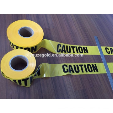 black and yellow printing wraning tape without glue/PE warning tape