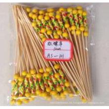 Palillo doble de bambú del grano