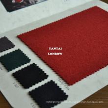 Importación de tela de lana pesada de abrigo rojo británico del Reino Unido