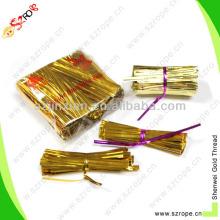 Food packing single wire metallic twist tie
