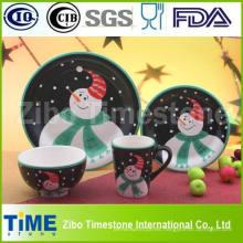 Juego de cena de porcelana de cerámica para decoración de Navidad (TS-009)
