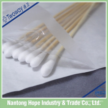 single head medical cotton swabs with sterile packing