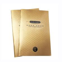 Offset-Drucklaminierung Kundenspezifische Papierbroschüre