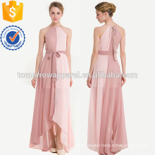 Two Tone Dip Hem Chiffon Dress With Weave Strap Manufacture Wholesale Fashion Women Apparel (TA3181D)