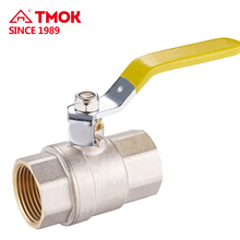 Suministre la válvula de gas de cobre amarillo de alta calidad DN15 Válvula de bola de cobre de la manija de control larga del hierro