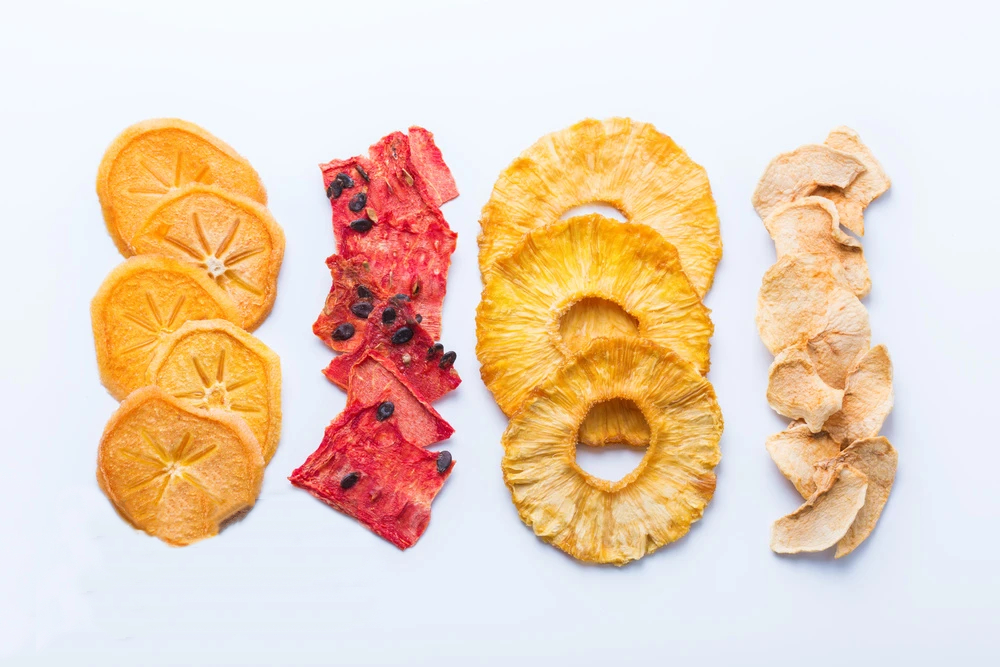 Dried fruits and vegetables