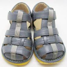 Grey Baby Boy Sandals Squeaky Sandals