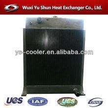 Permutador de calor de alumínio refrigerado a ar para bomba de vácuo / máquinas de construção