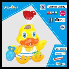 Brinquedo de pato colorido para crianças brinquedos de banho de plástico
