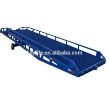 Rampa de carga hidráulica ajustable del cargamento de la carretilla elevadora de 10 toneladas