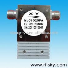 Circulador do isolador coaxial do VHF de 210-226MHz rf