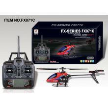 4CH Single Hélice sem equilíbrio bar helicóptero R / C indoor e outdoor vôo divertido rádio controle remoto helicóptero FX071C