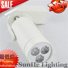 Smooth Iron & Aluminum style shell black gold white led track light & clear warm light led track light