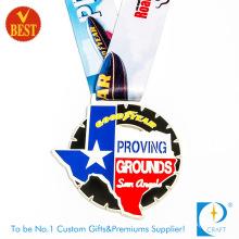 Cheap Custom Zinc Alloy Enamel Souvenir Marathon Medal
