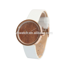 simple special design wooden pattern dial watches for unisex