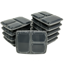 Comida Recipiente De Refeição De Armazenamento Recipientes De Microondas De Plástico 3 Compartimento De Alimentos Recipiente Bento Lunch Box À Prova De Fugas