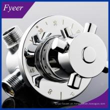 Válvula de mistura termostática de bronze nova do controle de temperatura da água de Fyeer