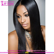 Wholesale Natural Real Straight 100% Human Remy Hair Glueless brazilian cheap Full Lace Wig