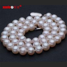 9-10mm AAA cultivadas de água doce colar de pérolas jóias (e130017)