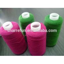 Stock de fábrica de varios colores hilados de lana de oveja 24nm / 2 al por mayor