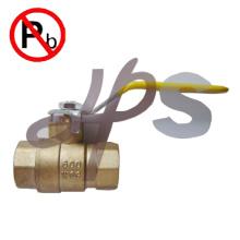 НФС низкий свинец латунь латунный шариковый клапан 600WOG