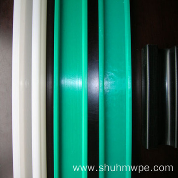 Green UHMWPE guide rail