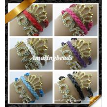 Rhinestone Love Bracelet, New Arrival Bracelet en cuir, bijoux Fashion Bracelet (FB0122)
