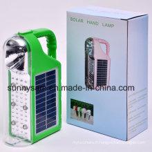 Lampe-torche solaire portative extérieure rechargeable de camping de 2015