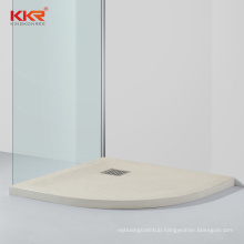 2020 New Solid Surface Resin Stone Shower Tray Shower Pan For Hotel