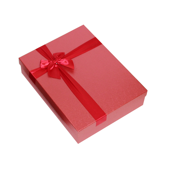 Red Fancy Gift Box With Ribbon