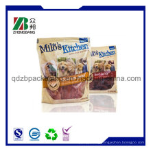 Plastic Pet Dog Food Packaging Bag with Zip Lock