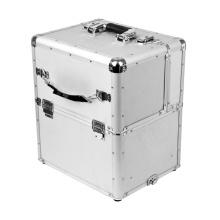 Boîte à outils en aluminium pour bagages en aluminium avec roues et baguette